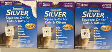 SERGEANT'S FLEA & TICK SQUEEZE-ON FOR CATS 3 PACKS 9 MONTH SUPPLY NEW