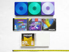 LOT 26 Blank CDRW CDR Jewel Cases (Standard, Slim, Clam Shell) TDK MAXELL 650MB