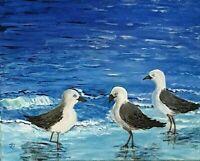 """Seagulls"" Original Painting- De Martino Art"
