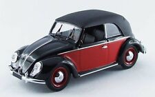 Volkswagen VW Cabrio Karmann 1949 Black / Red 1:43 Model RIO4420 RIO