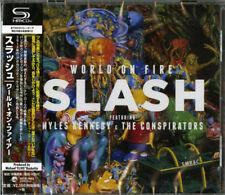 SLASH-WORLD ON FIRE-JAPAN SHM-CD F17