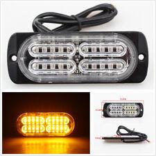 2X High Power Ultra-thin 20LED Amber Car Strobe Light 19 Selectable Flash Models