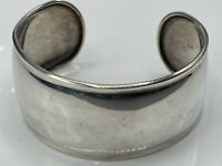 Large Stunning Vintage Hallmarked Solid Sterling Silver 925  Cuff Bangle 19.3g