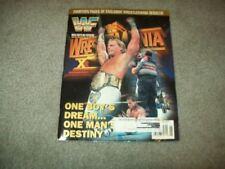 vtg WWF MAGAZINE 1996 WWE SHAWN MICHAELS trading cards WARRIOR nwa Hulk Hogan