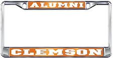 "Clemson Tigers "" ALUMNI "" Chrome License Plate Tag Frame, Domed"