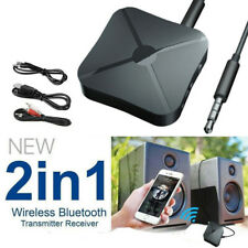 Bluetooth 5.0 Wireless Audio Aux Transmitter & Receiver 2 IN 1 Adapter 3.5mm