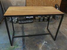 Meuble industriel table industriel mange debout sur mesure bois et mètal