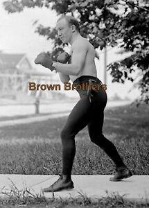 1910s Boxing Chicago Born Bantamweight Johnny Coulon Glass Camera Negative #1