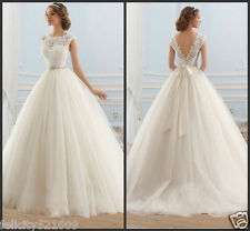 2017 New Elegant Bridal Wedding Dress Ball gown Custom 6 8 10 12 14 16 18 20 22