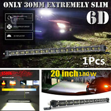 "Slim 20"" 180W Single Row Spot Beam LED Work Light Bar Off-Road Drive Fog Lamp"