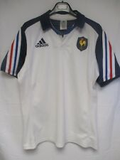 Maillot rugby EQUIPE de FRANCE blanc away ADIDAS 2014 shirt L