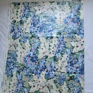 2.6 yd Pc Cyrus Clark Penelope Cotton Chintz Fabric Floral Pink Blue Hydrangeas
