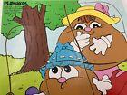 1985 Playskool Potato Head Potato Dumpling Tickles Characters Wood 10pc Puzzle