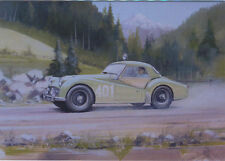 Triumph TR3A Alpine Rally Blank Birthday Card