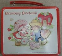 1980 Strawberry Shortcake Metal Lunchbox No Thermos Aladdin Industries