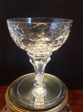 Kristalunie Maastricht Crystal Wine/Sherbet Glass X's & O's Bubble Stem