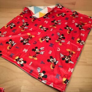 """MICKEY MOUSE """"Red"""" Awesome Little Kid's Mini Snuggly Blanket Lightweight Cozy"""