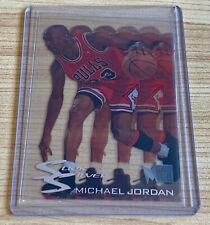 Michael Jordan 1995-96 Fleer Metal Slick Silver Bulls Insert. RARE