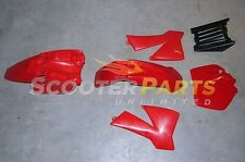 Red Plastic Fairing Body Kit Parts 85cc Dirt Pit Bike KTM85 SX 17/14 2006 - 2012