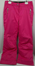 Obermeyer Ski Snow Pants Girl size 12 Pink Adj Waist Ews Snow Snowboard Guc