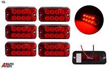 6x 24v 8 LED Lateral Marcador Rojo Luces PARA EL CARRO MAN DAF Scania Iveco