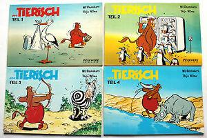 ...TIERISCH   Band 1 - 4   komplett   Wil Raymaker/Thijs Wilms   Z1   CA411
