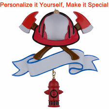 Firefighter Personalized Christmas Tree Ornaments Christmas Gift DO-IT-YOURSELF