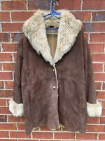 Wilson's Leather Brown Suede Very Heavy Size XL Large Coat