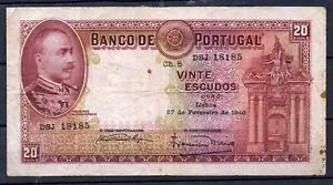 Portugal P-143 20 Escudo 1925 vF Rare
