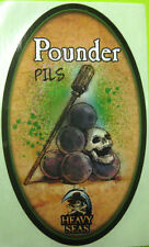 POUNDER PILS 3X5 Beer STICKER with PIRATE Heavy Seas Brewery, Baltimore MARYLAND