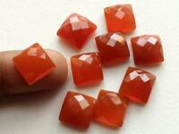 Details about  /Lovely Lot Natural Carnelian 6X6 mm Cushion Faceted Cut Loose Gemstone
