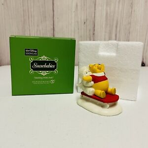 Dept 56 Snowbabies Disney Showcase Collection Sledding With Pooh
