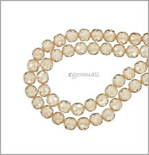 16 Cubic Zirconia Round Beads 4mm Light Champagne 64751