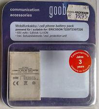66228 Goobay para sony-ericsson f500i k500 k500i k700i t220 t226 t230 z200 650mah