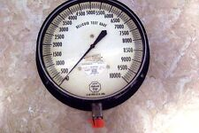 "Helicoid Gauge 9"", 1/2"" Lower Connected, 10,000 PSI Test Gauge"