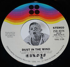 "Classic Rock 45~KANSAS~Dust In The Wind/ Paradox~CLEAN Vinyl 7"" NOS"