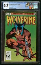WOLVERINE LIMITED SERIES #4 (1982) CGC 9.8 1st PRINT WHITE PAGES CUSTOM LABEL