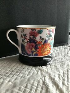 Imperial Leaf China Tobacco Leaf Asian design Coffee Tea Cup with Gold Accents