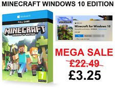 🎮 Minecraft: Windows 10 Edition PC - FULL GAME Digital Game Code - ON SALE!!🎮