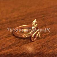 Copper Snake Ring Adjustable Chakra Nagini Hippy Boho Karma Celtic Gothic Wicca