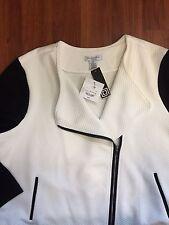 NWT liz claiborne 1x white/black jacket bought for $70.00