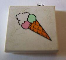 Lego Paradisa 3068bpx16Tile 2x2 with Ice Cream Cone du 6409 6411 ou MOC