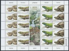 Serbia 2012 Fauna - Reptiles, Sheet with central vignette, MNH