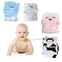 Cute Animal Cartoon Baby Kid's Soft Hooded Bathrobe Toddler Bath Towel Bathrobe