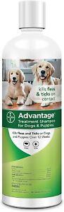 Advantage Shampoo Flea and Tick Treatment for Dogs & Puppies 24 oz.