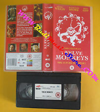 VHS film TWELVE MONKEYS Bruce Willis Stowe Brad Pitt 1996 inglese (F142)no dvd