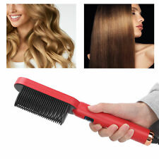 Anion Hair Straightener Comb Brush Hair Curling Hair Straightening Comb Tool Red