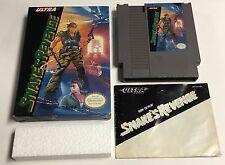 Metal Gear Snakes Revenge Original Nintendo NES CIB Complete in Box