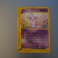 Pokemon Mew Non Holo Rare Expedition 55/165