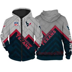 Houston Texans Hoodie Fan's Hooded Pullover Sweatshirt Casual Jacket